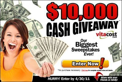 cash sweepstakes over 10000